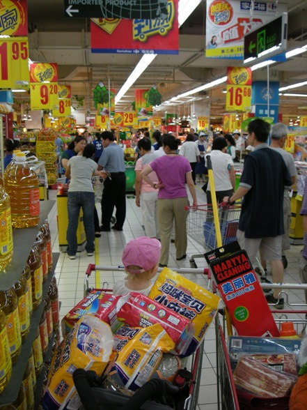 Frøken i kaoset på Carrefour