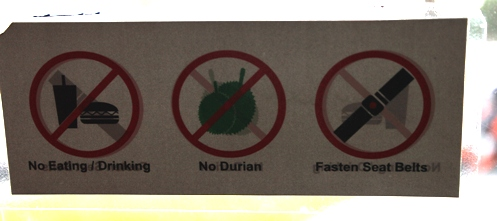 No durian!